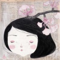 seforapons-acrylics-graphite-colouredpencils-oldpaper-symbiosis-ginkgogirl