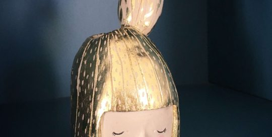 seforapons-ceramic-sculpture-goldleaf-symbiosis-cactusgirl