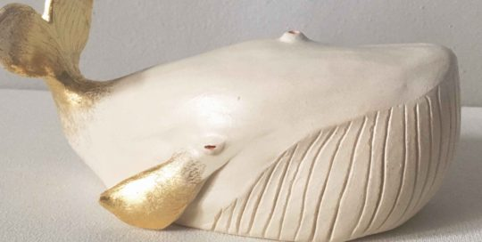 seforapons-ceramic-sculpture-goldleaf-migaloo-white-whale-symbiosis