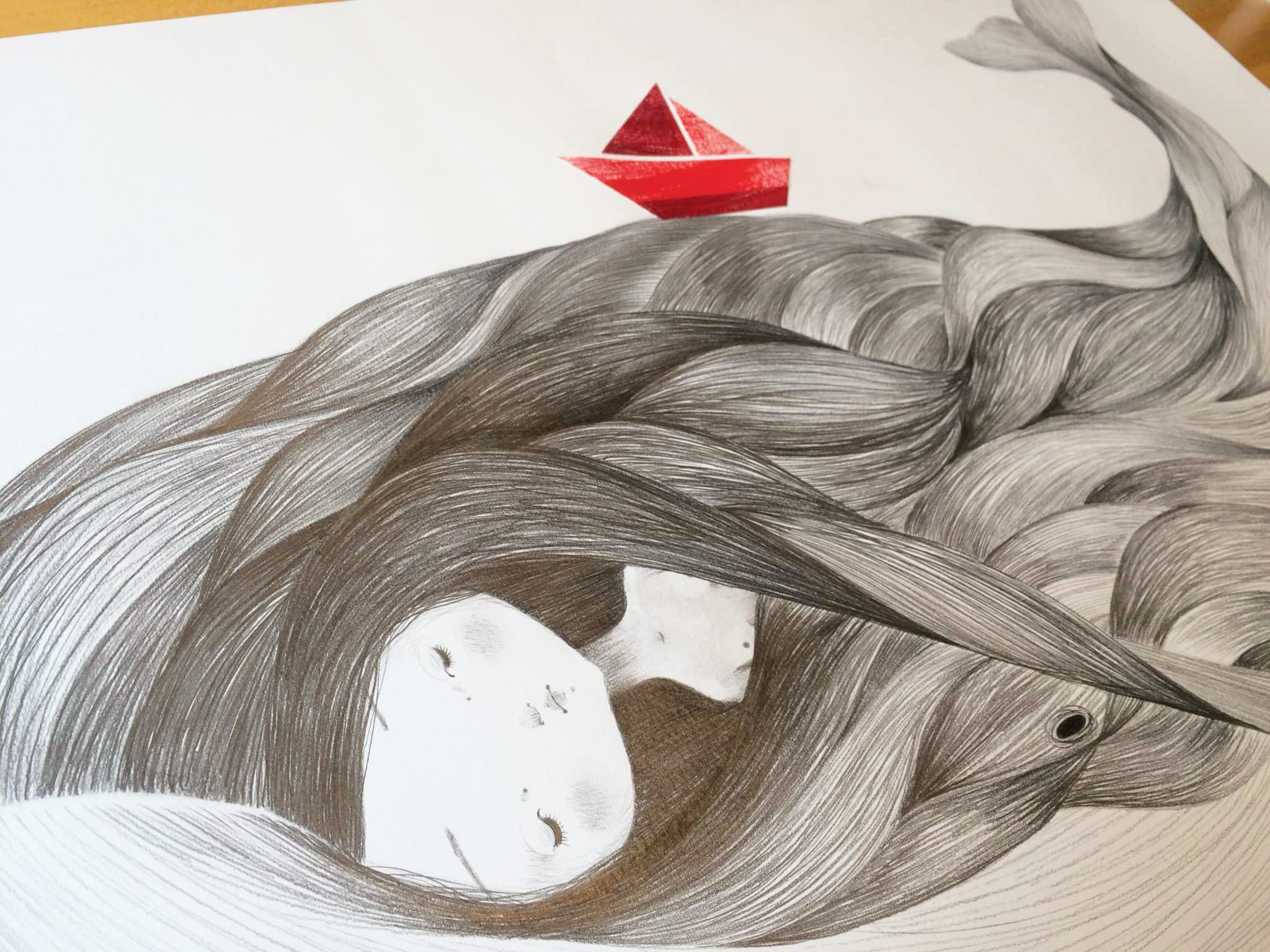 seforapons-graphite-collage-symbiosis-red-boat-whale-girl-kujirachan-2