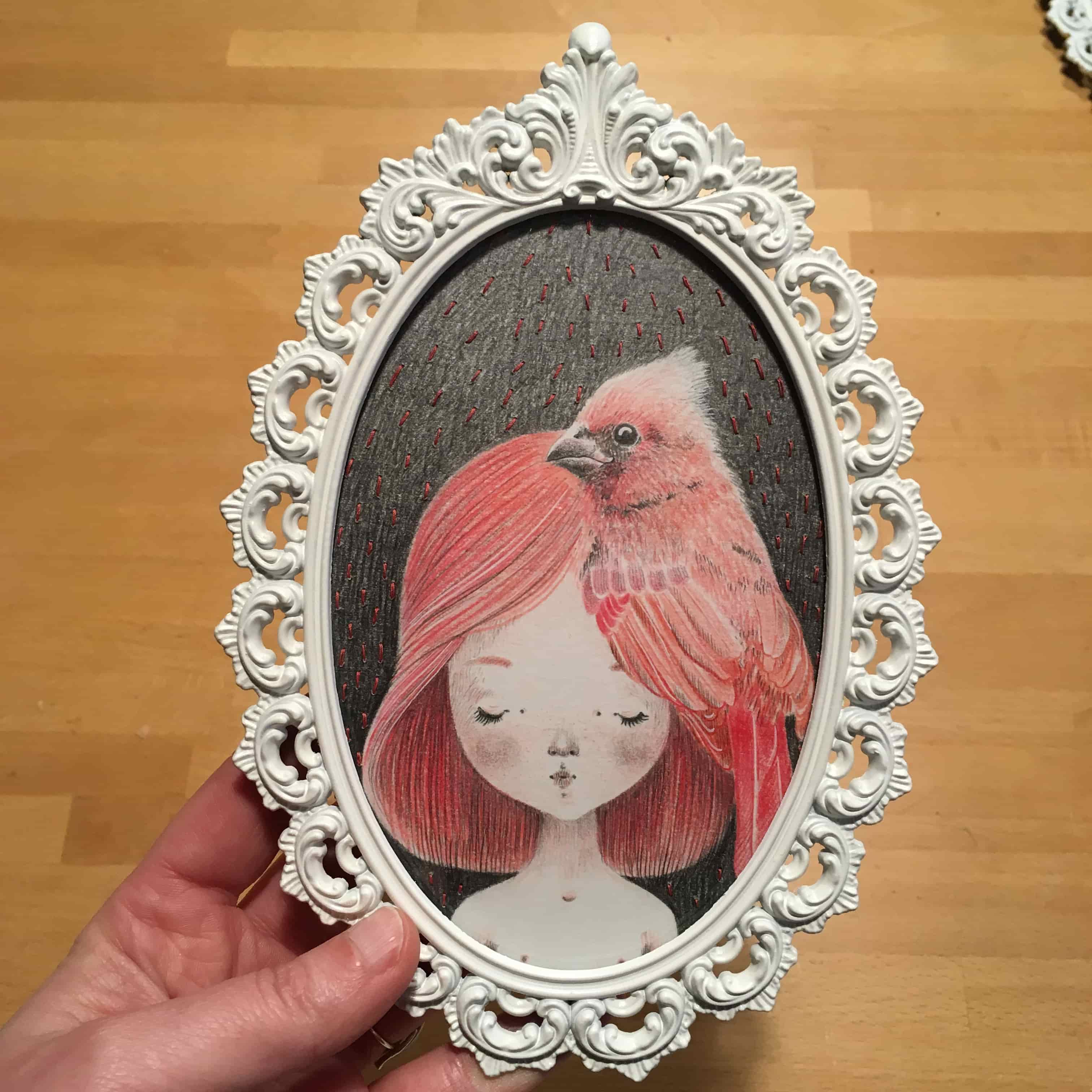 seforapons-graphite-embroidering-coloredpencil-pink-bird-girl-symbiosis-momoirochan-3
