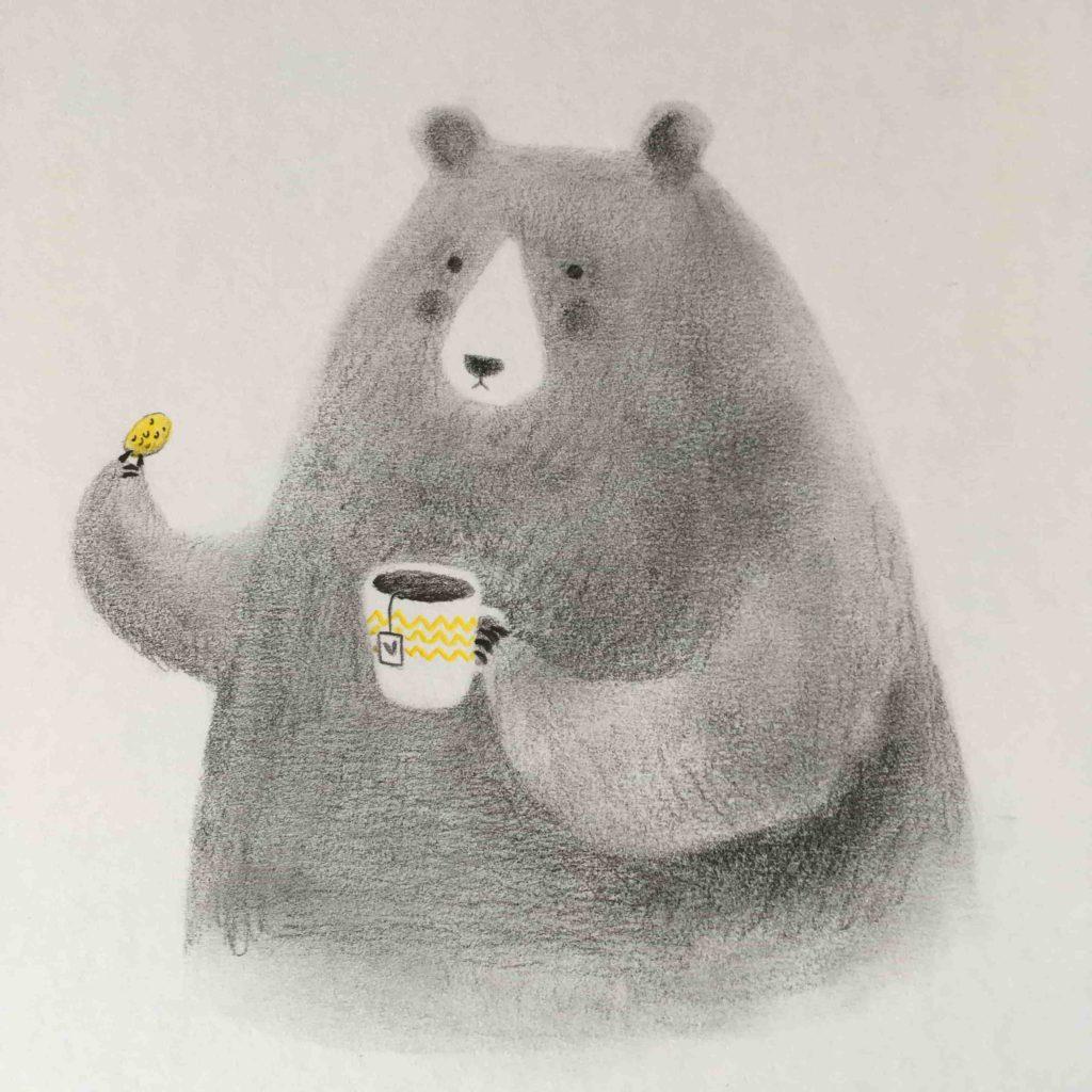 seforapons-illustration-graphite-colouredpencils-bear-junkoebastian-5