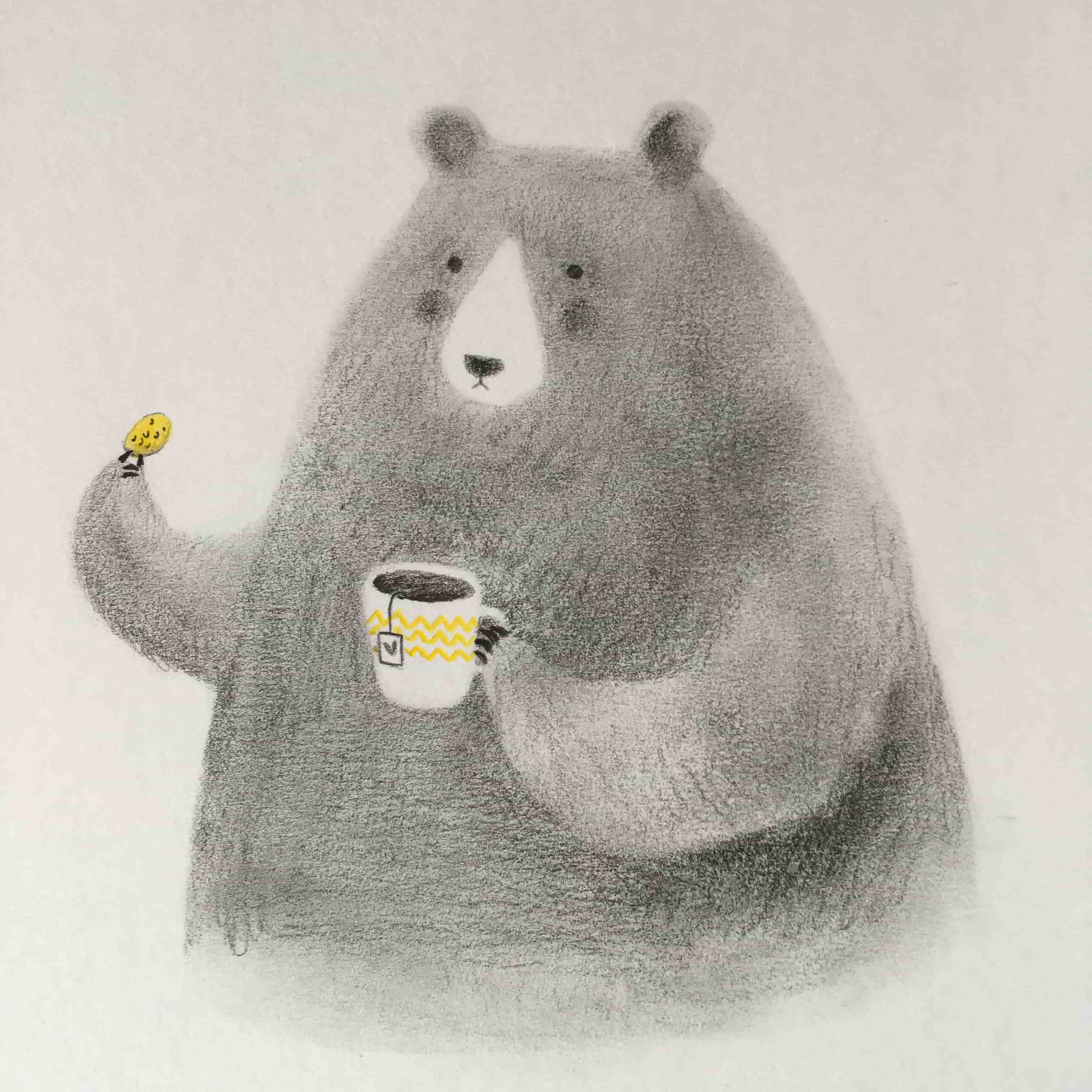 seforapons-illustration-graphite-colouredpencils-bear-junkoebastian-5