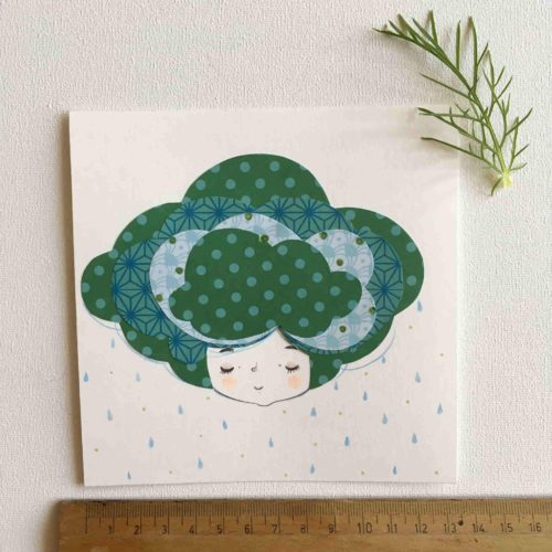 seforapons-doodles-collage-coloredpencils-girl-drops-symbiosis-greencloud