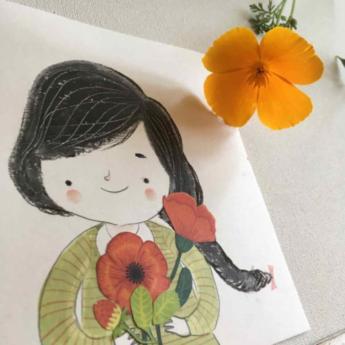 seforapons-doodles-markers-collage-coloredpencils-girl-flowers2