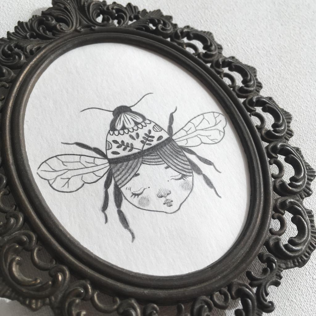 seforapons-the girl and the bee drawing-3